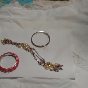 Necklace and two bracelets